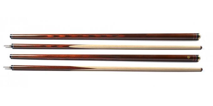 Бильярдный кий Классика Тёмный граб (термомодифицированный) 6х4 Падук