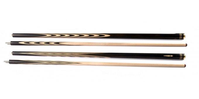 Бильярдный кий Классика 6х4 из Эбена с инкрустацией, гравировкой и лыской